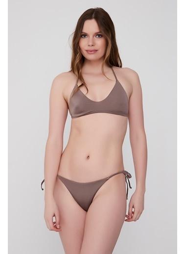 Plumeria Swimwear Üçgen Bikini Takımı Gümüş